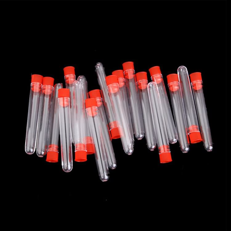 High quality laboratory clear round bottom plastic empty test tube with screw cap