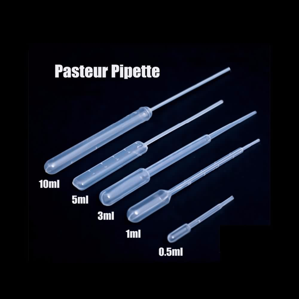 Disposable micro medical plastic pasteur pipette or transfer pipette