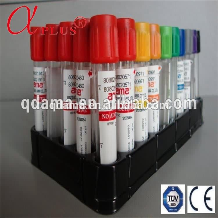 Medical PET disposable vacutainer yellow vacuum blood collection tube