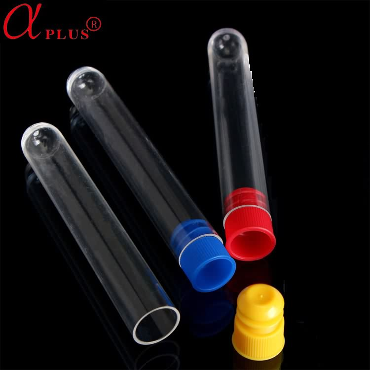 Laboratory clear 12*75 plastic test tube with screw cap price