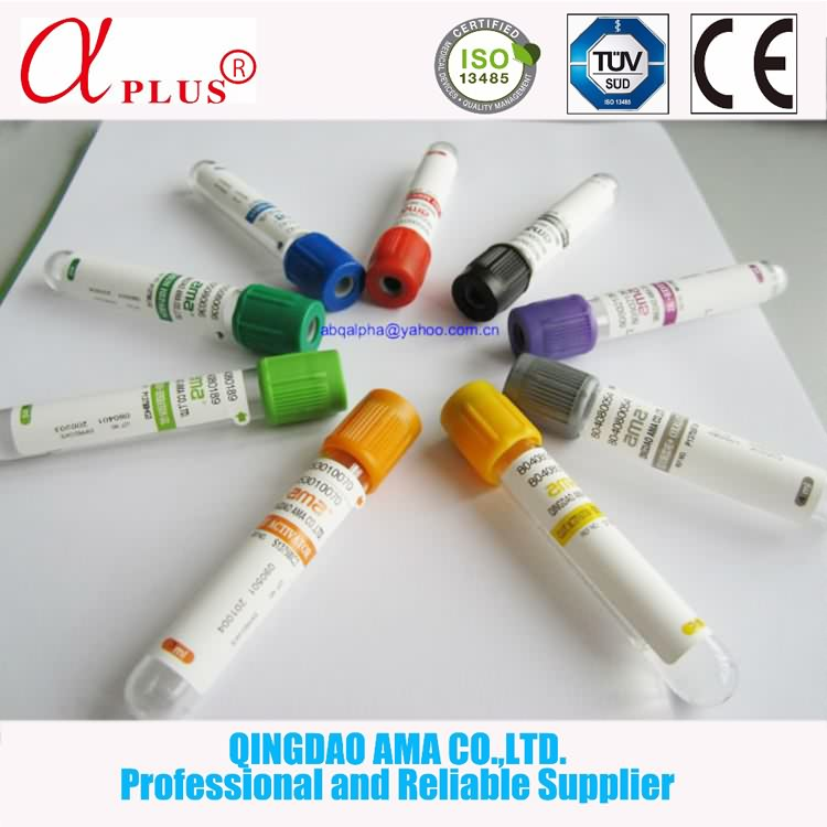 Low price PET or GLASS medical vacuum bd vacutainer blood collection tubes