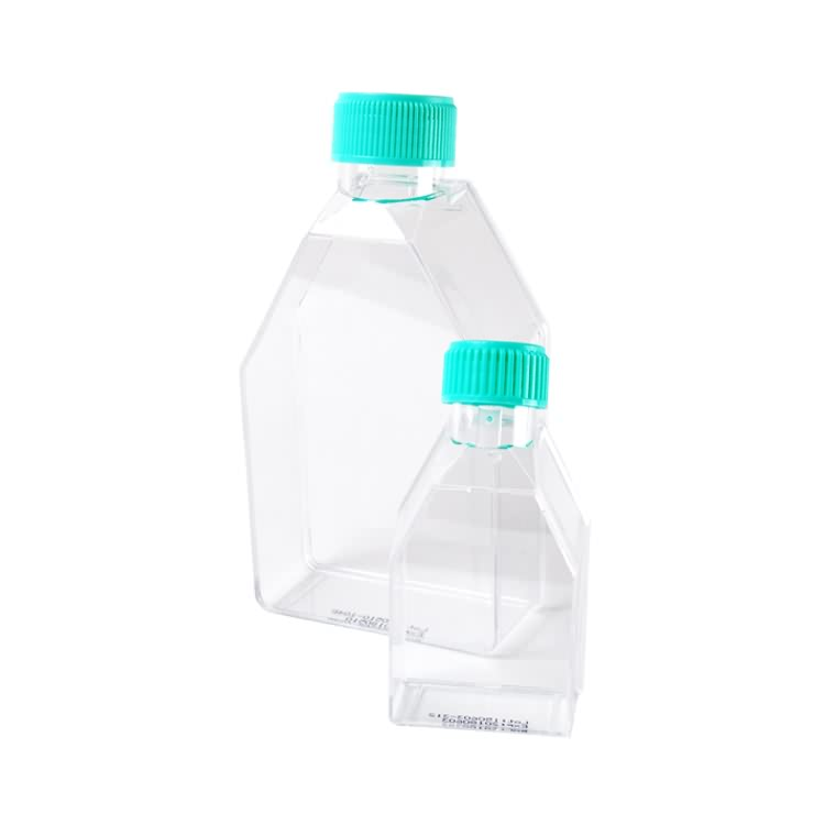 50ml rectangular 250ml canted beuheung palastik laboratorium flask budaya jaringan