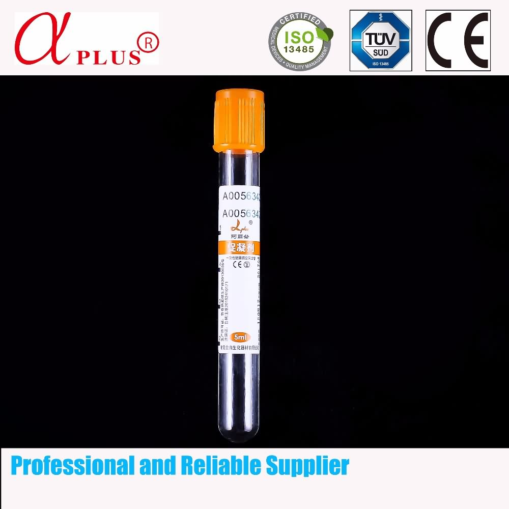 ISO approved medical plastic vacuum blood test tube