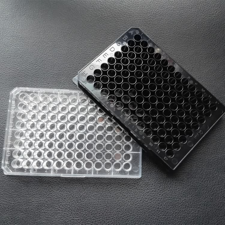 Lab supplies disposable medical flat bottom 96well microplates