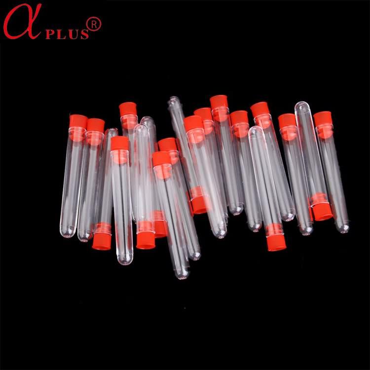 low price lab plastic 13*100mm test tube with screw cap