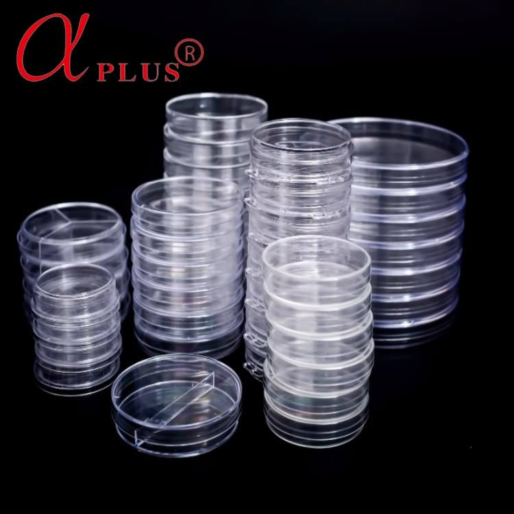 Different size plastic disposable sterile 9cm petri dishes