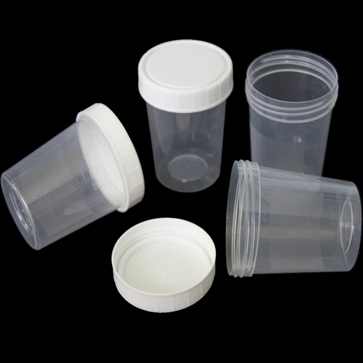 Medical Urine Or Suptum Cup For Drug Test With Screw Cap