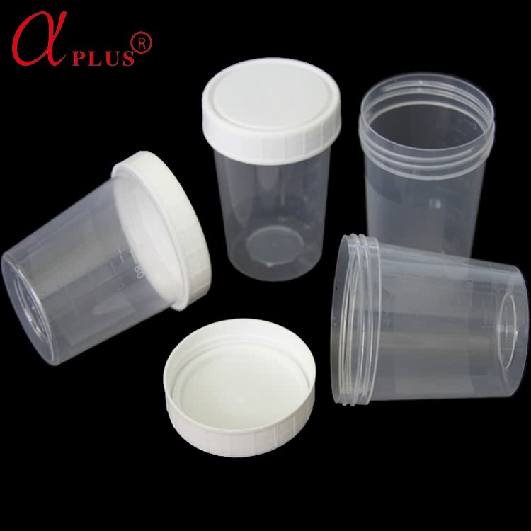 Urine container sterile disposable urine collection bottle with cap