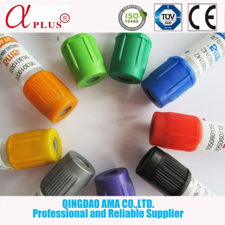 Disposable Glass Non Vacuum Blood Test Collection Tube With Gel&Clot Additive
