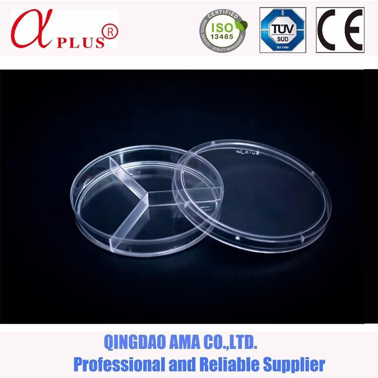 lab disposable sterile 75mm petri dish
