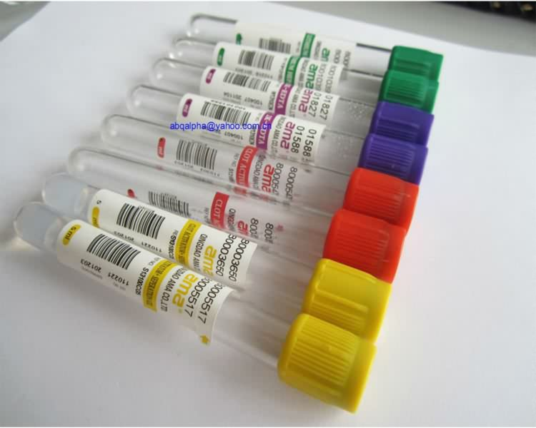 Medical Consumables Blood Tube Glass PET Labs Vacuum Non Additive Plain Vacuum Blood Collection Tube