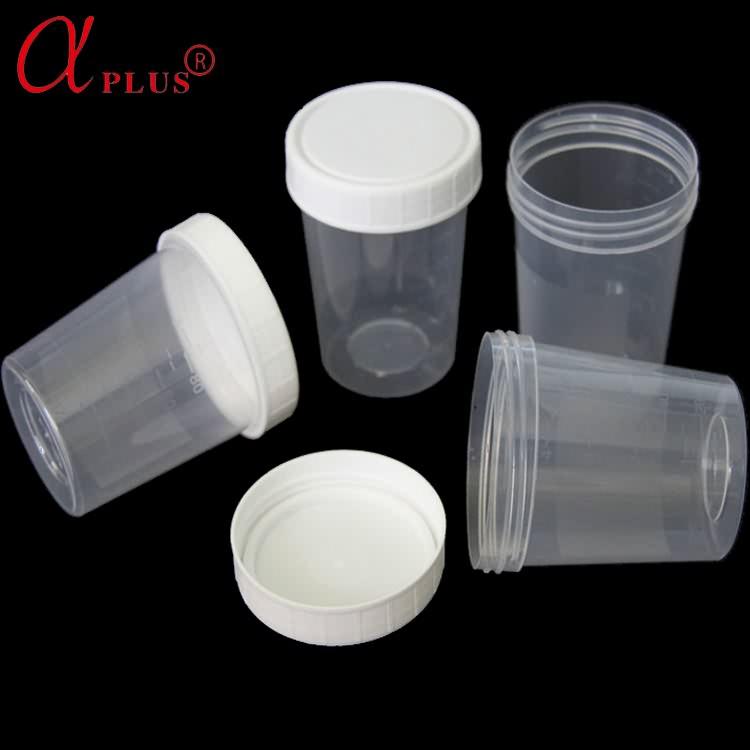 Disposable plastic sterile urine cup specimen container