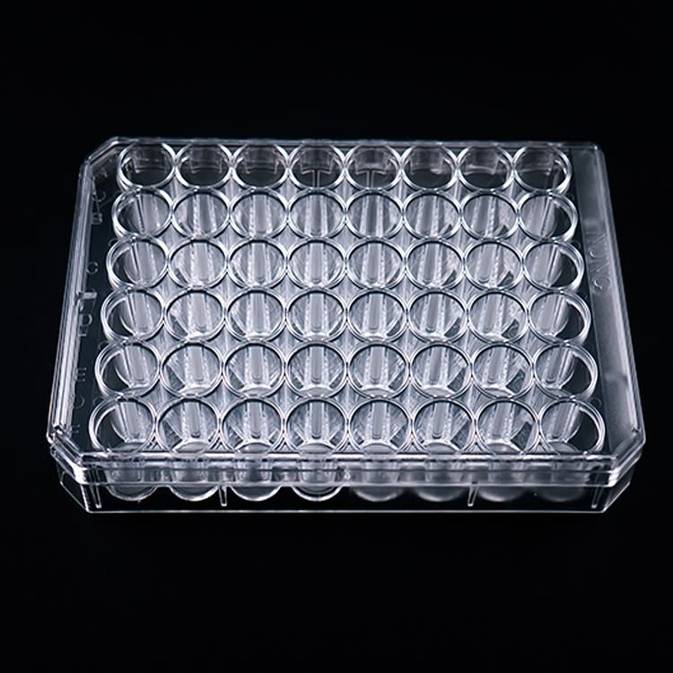 stable plastic 96 well cell tissue culture plate with flat bottom