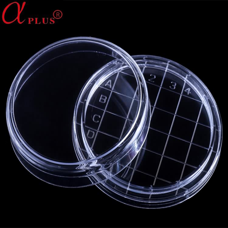 High Quality Disposable Medical PS Petri Dish With Grid