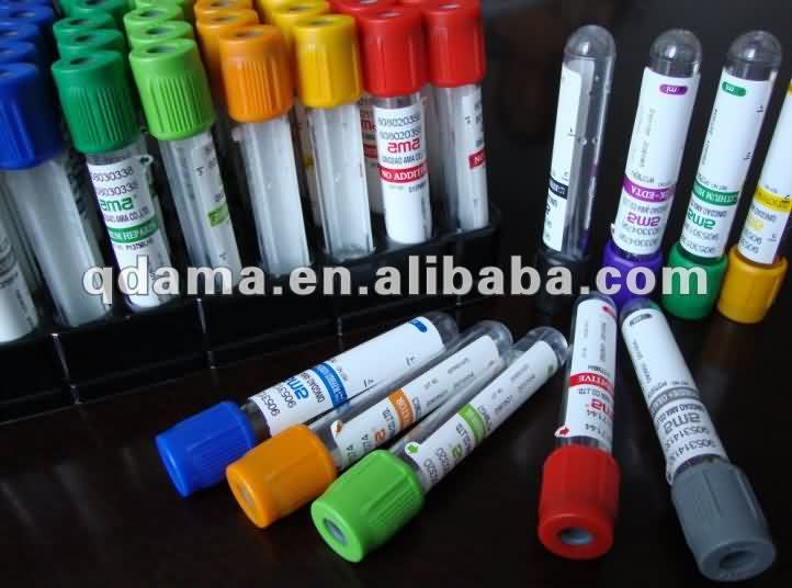Factory supply medical consumables sterile plastic yellow vacutainer vacuum Bd collection tube