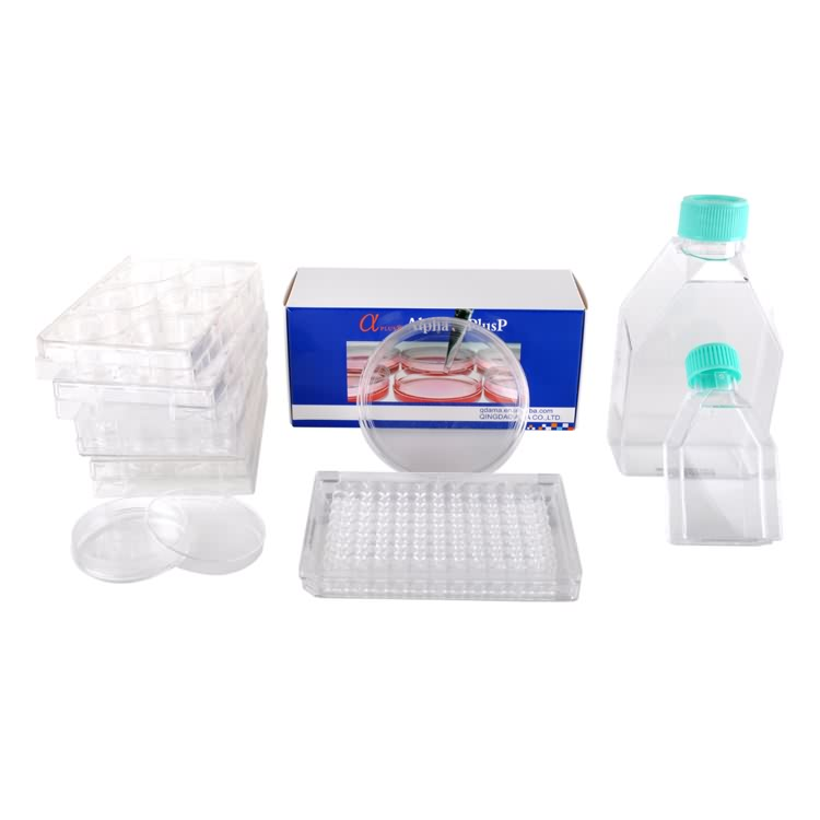 50ml 250ml rectangular canted neck laboratory plastic cell culture bottle
