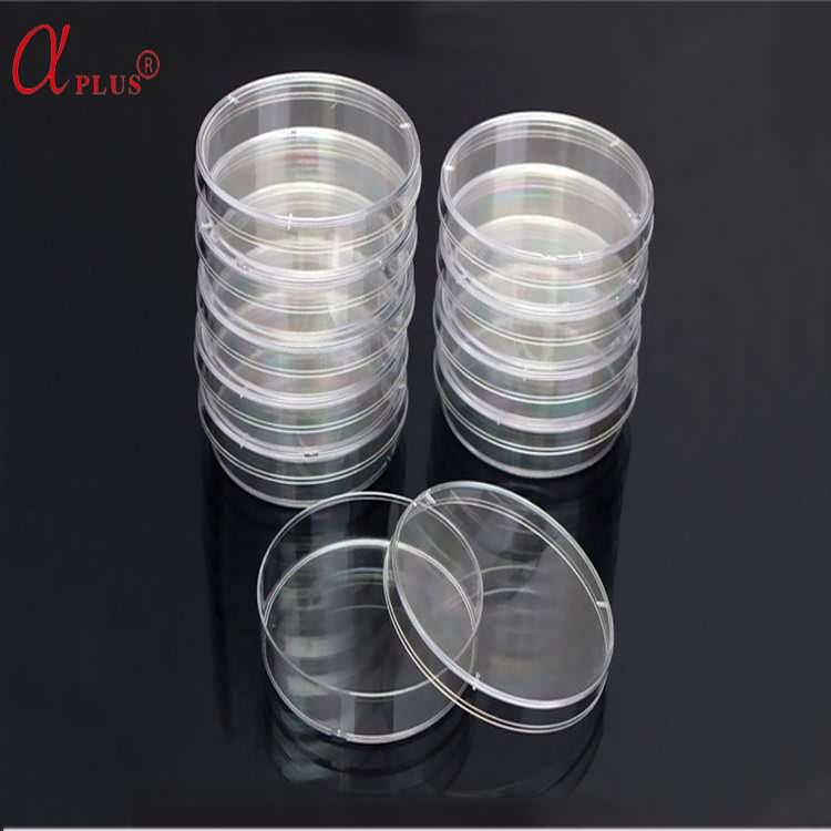 Lab plastic disposable sterile 75mm ps petri culture dishes container
