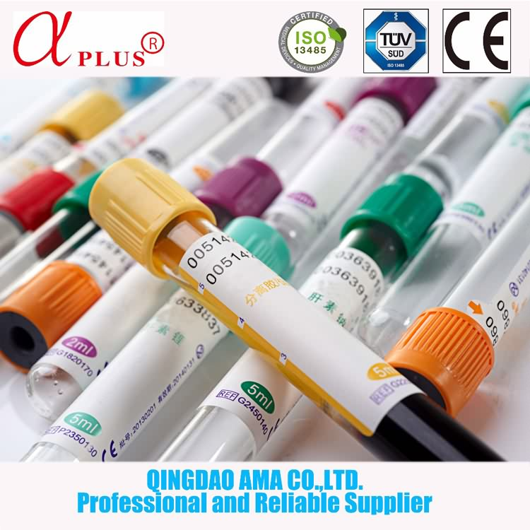 Medical disposable vacutainer vacuum ESR black cap blood collection tube