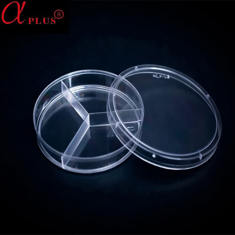 Factory supply sterile disposable 90 mm plastic petri dish