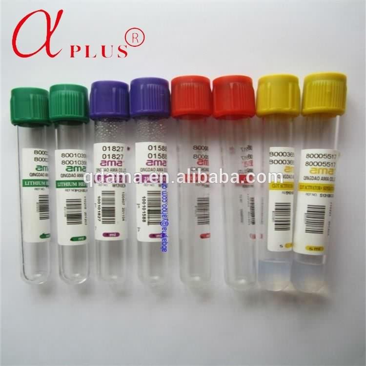 Lab plastic pet disposable bd vacutainer vacuum blood collection tube