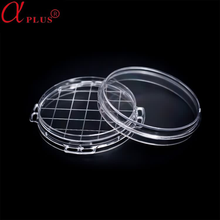 Disposable medical sterile plastic petri dish container