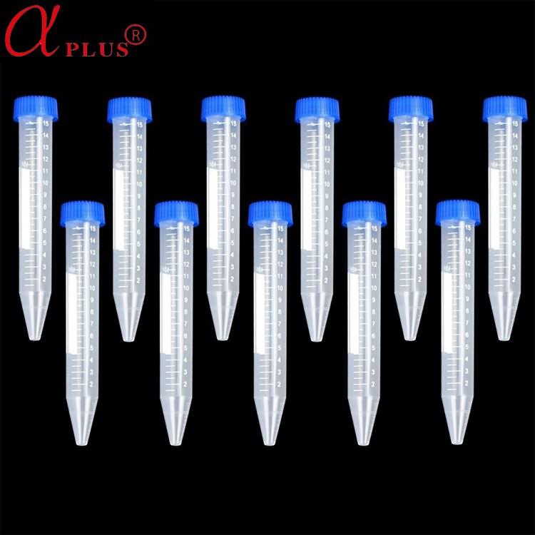 Laboratory Consumable Plastic Graduated 15ml Centrifuge Tube